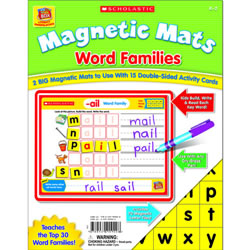Magnetic Mats Word Families Grade K-2