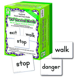 Textured Touch & Trace Cards - 30 Survival Words