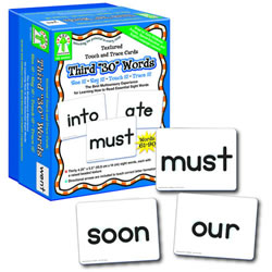Textured Touch & Trace Cards - Third 30 Words