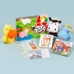 On The Farm In & Out Activity Kit