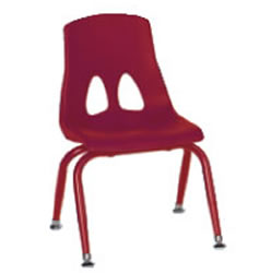 "Profile Stack 9 1/2"" Chair - Red"