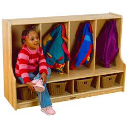 Ash Toddler Four Section Coat Locker
