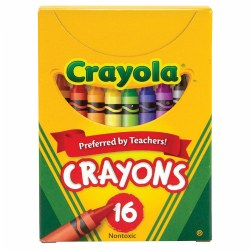 Crayola® 16-Pack Crayons - Standard (Single Box)