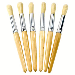 Natural Chubby Brushes (Set of 30)