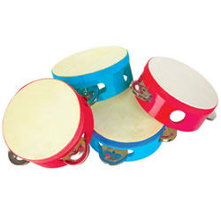 Woodstock Mini-Tambourine (set of 4)