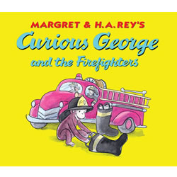 Curious George and the Firefighters Lap Board Book