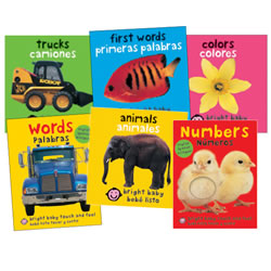 Bright Bilingual Board Books (Set of 6)