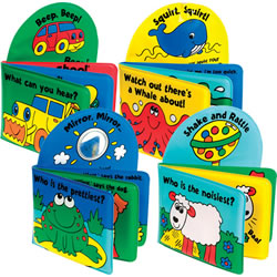 Beep, See, Squirt, Shake Vinyl Books (Set of 4)