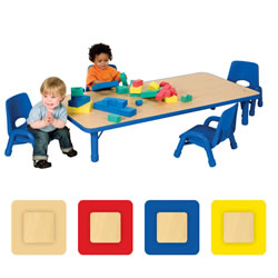 "Nature Color Toddler Rectangle Table 30"" x 48"""