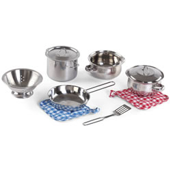 Stainless Steel Pots & Pans Set (10 Pieces)