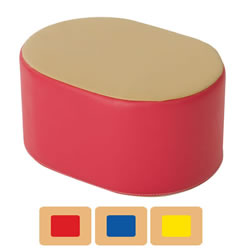 Toddler Two-Tone Ottoman