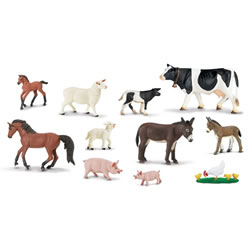 Farm Animals (set of 10)