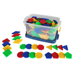 Lacing Geo Shapes (210 Pieces)