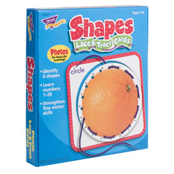 Shapes Lace and Trace Cards