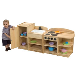 Ash Toddler 2-in-1 Kitchen Combo Units (Set of 2)