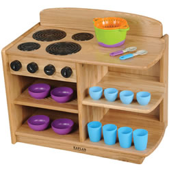 Ash Toddler 2-in-1 Kitchen Combo (Stove & Cupboard)