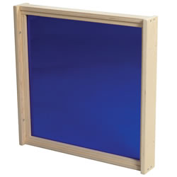 Shape-A-Space™ Blue Acrylic Panel with Frame