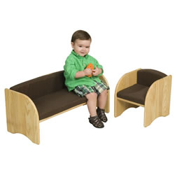 Toddler Just Like Home Couch & Chair Set With Cushions