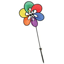 Rainbow Flower Pinwheel