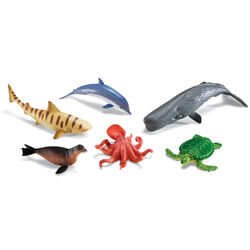 Jumbo Ocean Animals (set of 6)