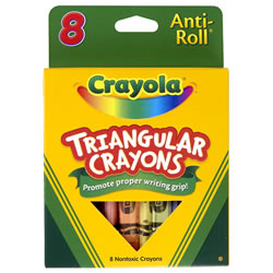 Crayola® 8-Pack Anti-Roll Triangular Crayons (10 boxes)