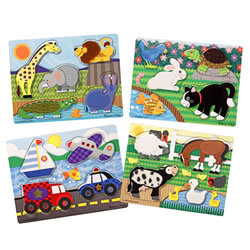 Touch & Feel Puzzles (Set of 4)