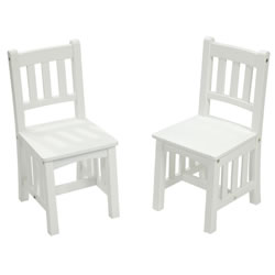 White Mission Chairs (set of 2)