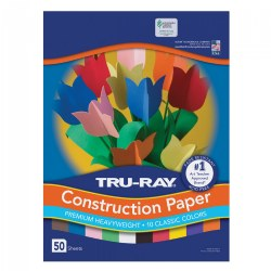 "Tru-Ray 12"" x 18"" Construction Paper"