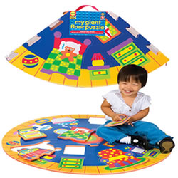 Around the House Floor Puzzles and Play Mat