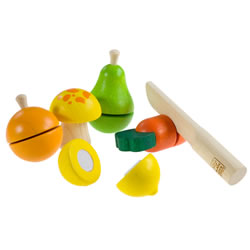 Wooden Fruits and Vegetable Play Set