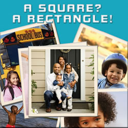 A Square? A Rectangle! - Board Book