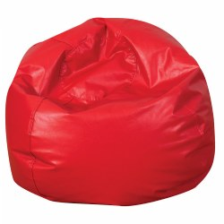 Vinyl Bean Bag - Red