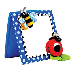 Busy Bugs Crib and Floor Activity Mirror