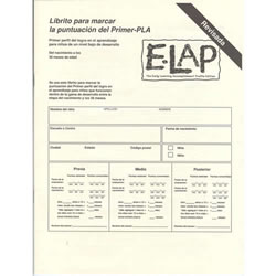 E-LAP™ Scoring Booklets (20) Spanish