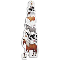 Barnyard Stacking Tower Puzzle