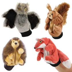 Woodland Animals Puppet Glove Set (Set of 4)