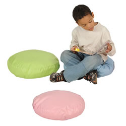 Round Soft Pillows ( Pastels Set of 3)