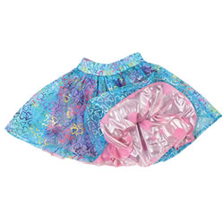 Fancy Dance Reversible Skirt (Lace Hearts & Pink Dots)