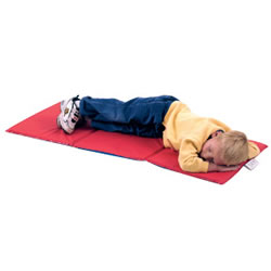 "3 Fold Infection Control Rest Mats® 3/4"" - Red/Blue"
