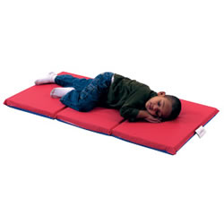 "3 Fold 2"" Germ Guard™ Folding Mat - Red/Blue (Set of 5)"