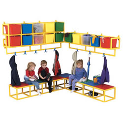 "10 Cubbie Wall Storage Only (63""W x 12""D x 27""H)"