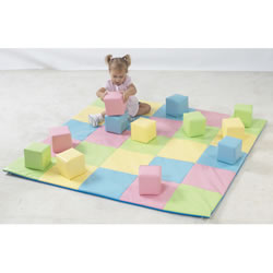Joey's Matching Mat & Blocks - Pastel