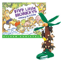 5 Little Monkeys Book & Story Props