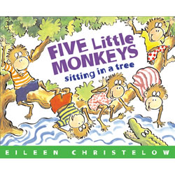 Five Little Monkeys Sitting in a Tree - Paperback with CD