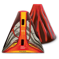 Cross-Section Volcano Model