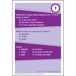 Brain Blasters Vocabulary Practice Cards - Grade 2