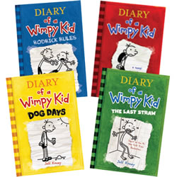 Diary of a Wimpy Kid Book Set (Set of 4)