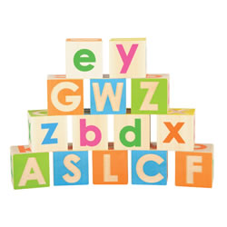 Upper and Lowercase Blocks