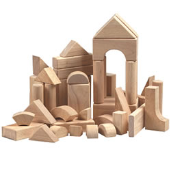 Hardwood Building Block Set - 76 pieces
