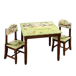 Lambs & Ivy Papagayo Table and Chairs Set